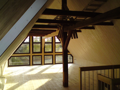 Dachgeschoss nach der Sanierung